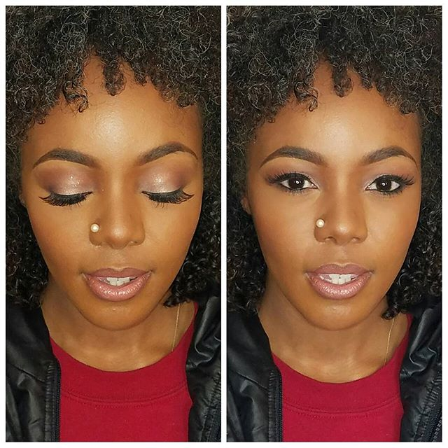 Close up of last week's glam session with the beautiful _jasmineteaflower. Had to get her t.v ready