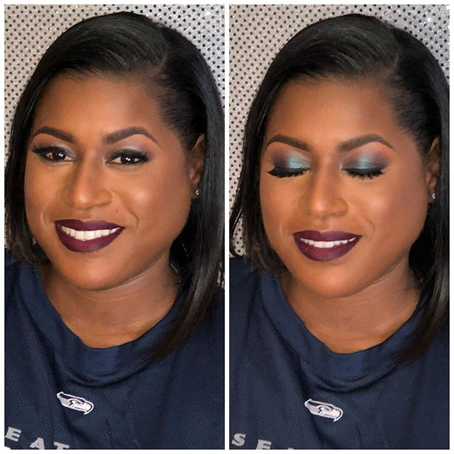 "The queen of dark lips! Every time _mindofmachella gets in my chair all she says is ""do your thang""."