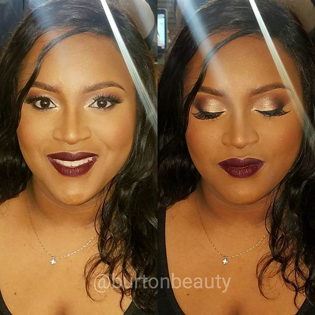 Glam for the beautiful gevelle! This think I got her hooked on a hold lip!_💄_#burtonbeauty #seattle