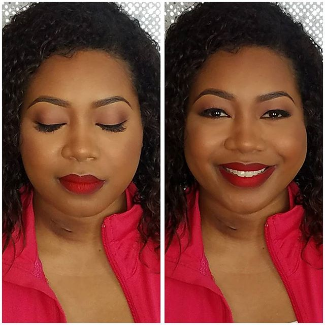 Red lips never looked so good!! Thanks _sammy_w for stopping by. Ill be hiring you as my wedding pla