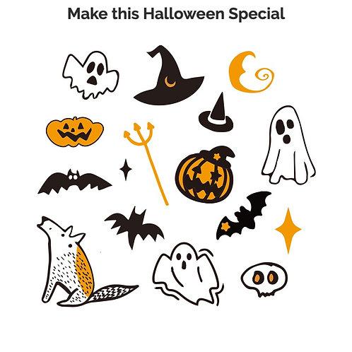 Original Design Halloween Temporary Tattoo