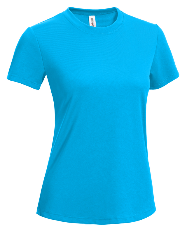 Women's Tee safety blue