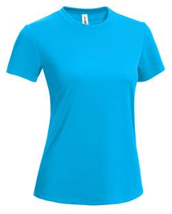 Women's Tee safety blue
