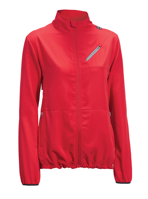Women's run away jacket red