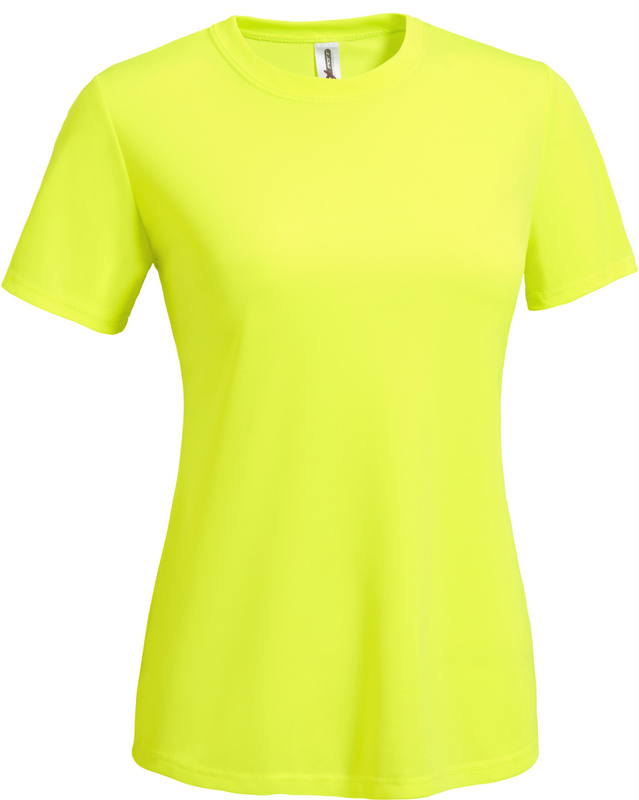 Women's Tee safety yellow