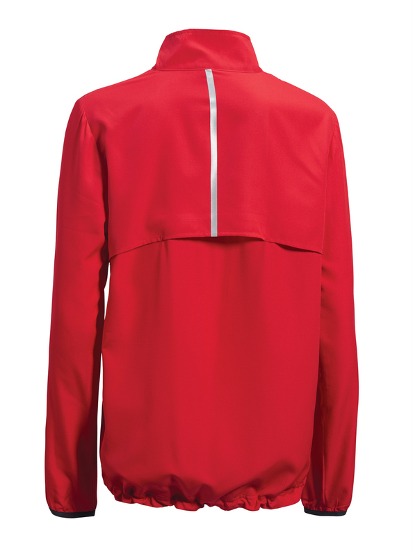 Women's run away jacket red back