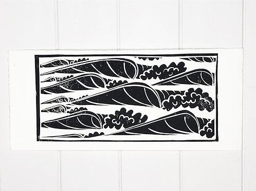 'Tidy Rights' Original Linocut art print. (Edition of 9)