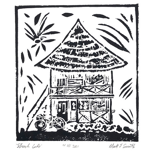 'Shack Life' Original Linocut Art Print (Edition of 5)
