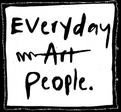 Everyday Art People Lino Cut Art Print