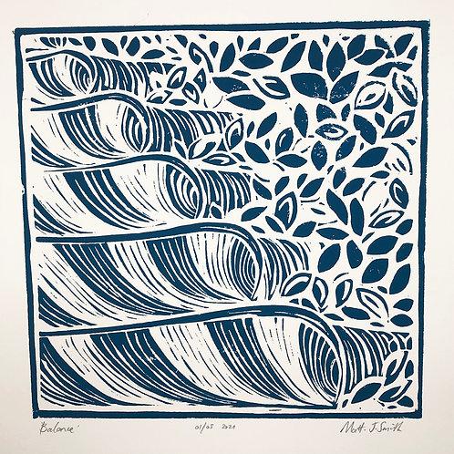 'Balance' Original Linocut Art Print (Edition of 10)