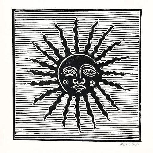 'Shine Your Light On Me'  Linocut Art Print (edition of 10)