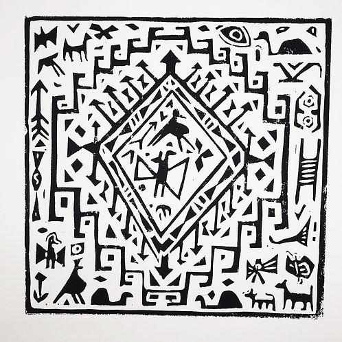 'Magic Carpet' Linocut Art Print (Edition of 10)
