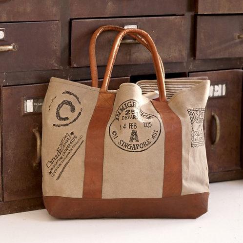 Leather handle Tote bag - Voyage