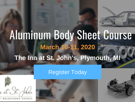 Automotive Aluminum Advisors Announces New Dates for Its Game-Changing Aluminum Body Sheet Course