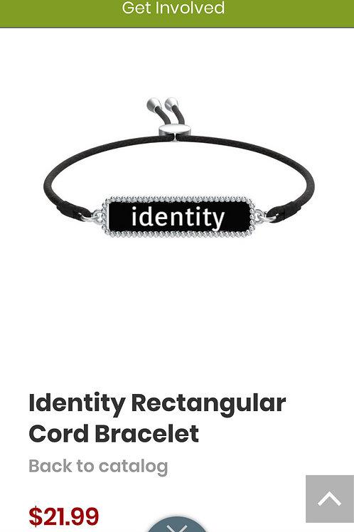 Identity Rectangular Cord Bracelet