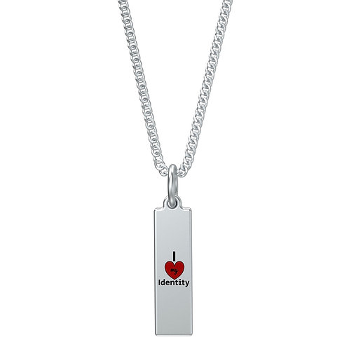 S Rectangular Charm Necklace