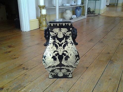 Black And Gold Porcelain Vase