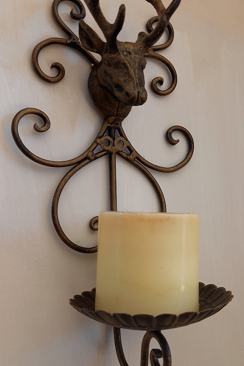 Stag Candle Holder - Wall
