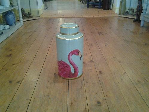 Flamingo Lidded Jar