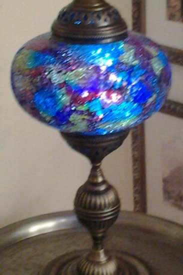 XL Multi Coloured Turkish Table Lamp