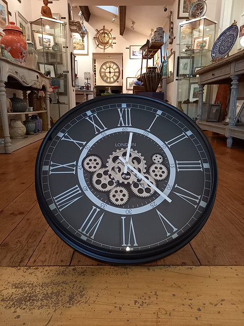 Large Black Frame Clock