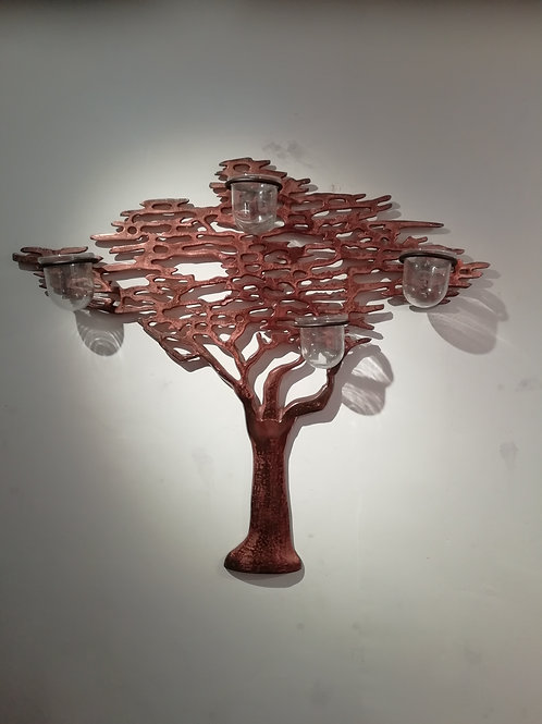 Tree Of Life Oxidised Copperg 4 Votives
