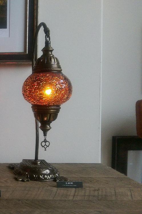 Amber Turkish Lamp