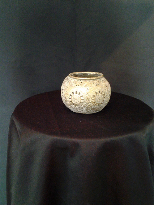 Small Antique Gold Tealight Holder