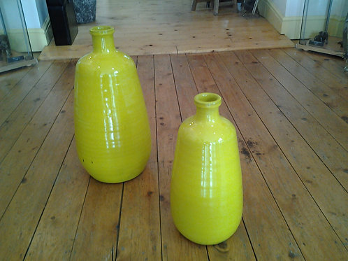 Bright Yellow Vase
