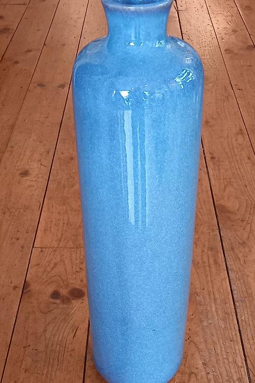 Tall Teal Vase
