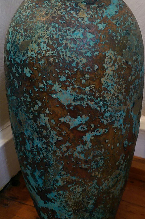 Large Vase-Blue/Green/Gold