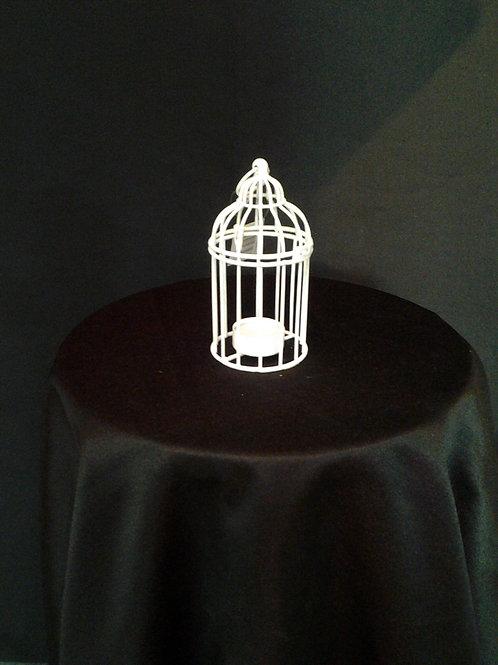 Small White Birdcage Tealight Holder