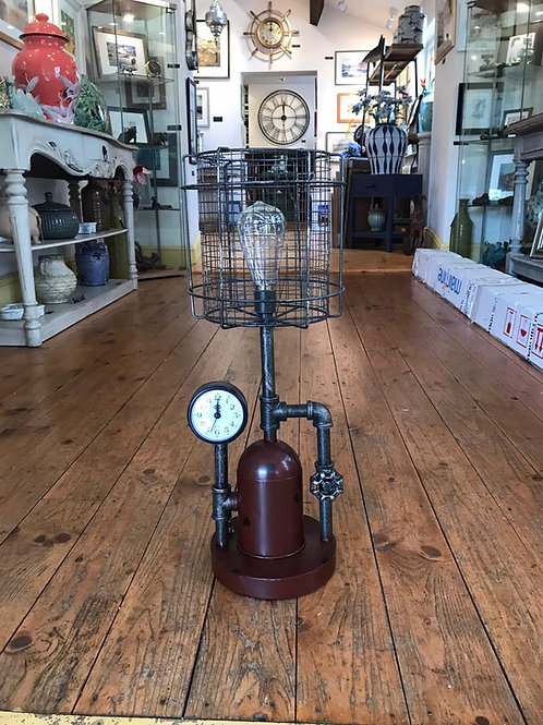 Industrial Style Light And Clock