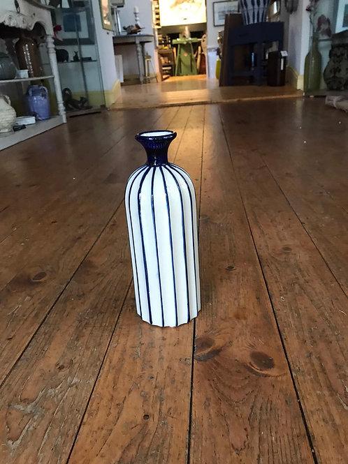 Med Stripe Ceramic Vase