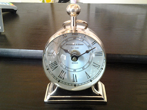 Nickel Magnifying Table Clock I