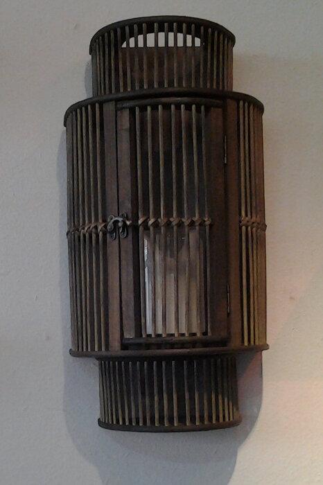 Wooden Wall Lantern