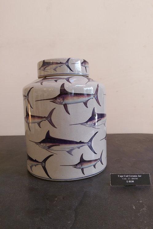 Cape Cod Ceramic Jar