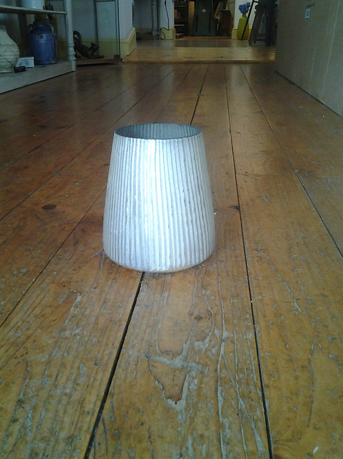 Hatfield Silvered Glass Candle Holder