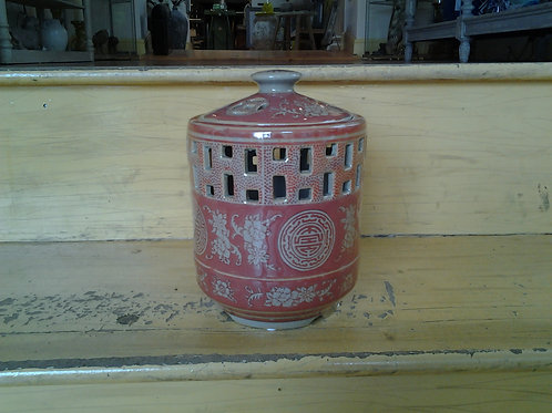 Candle Holder With Good Fortune Motif
