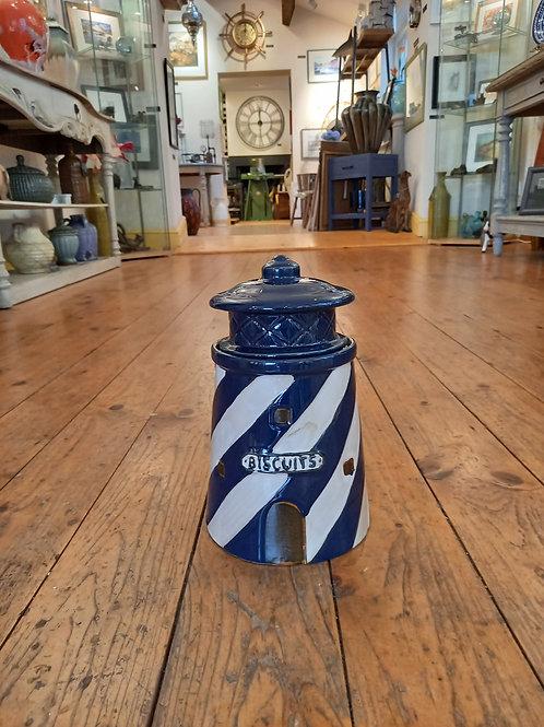 Lighthouse Biscuit Jar