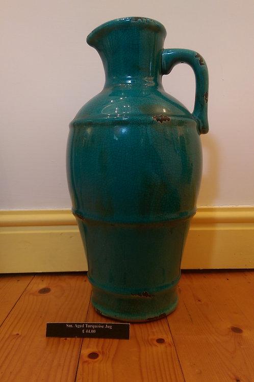 Aged Turquoise Jug