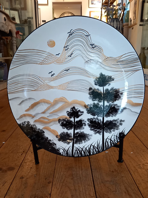 Landscape Plate With Stand