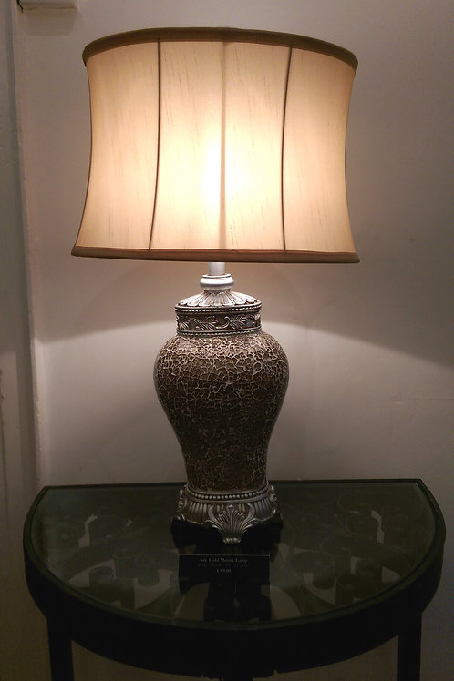 Large Gold Mosaic Lamp