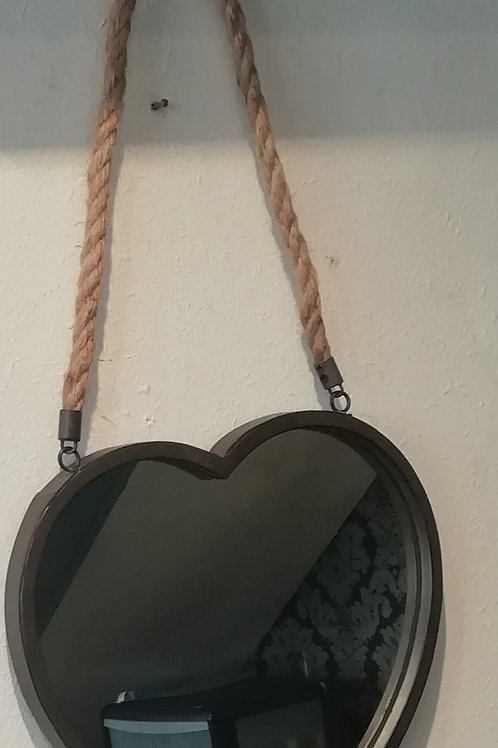 Heart Mirror With Rope