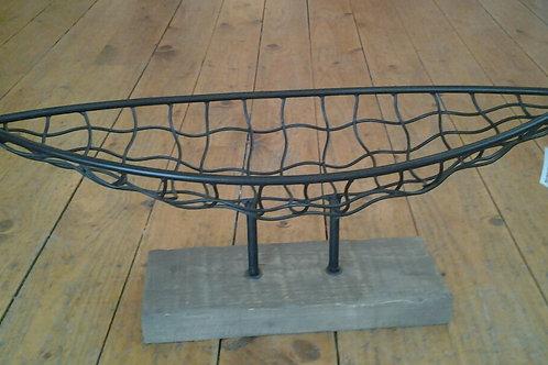 Oval Wire Boat Fruit Basket