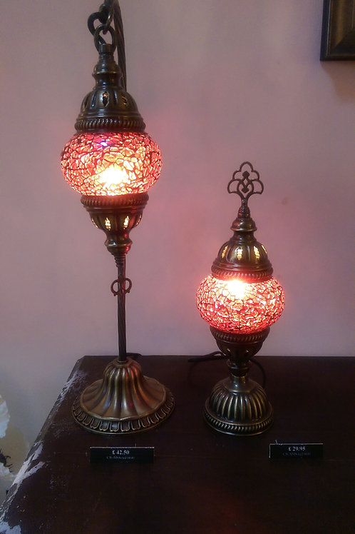 Ruby Red Turkish Lamp