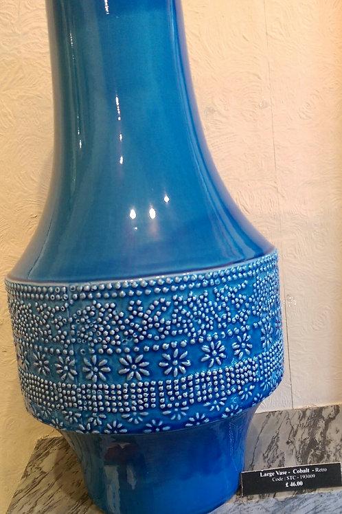Large Vase-Cobalt Blue