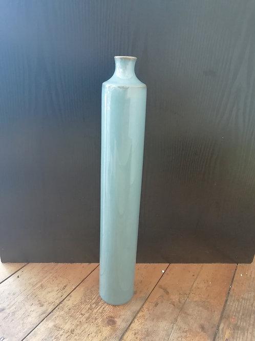 Tall Blue Deco Vase
