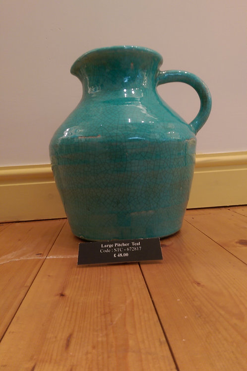 Large Pitcher- Teal