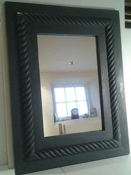 Hand Crafted Roped Edge Grey Mirror